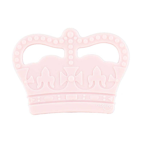 Nibbling London - Teething toy, Royal range crown, pink