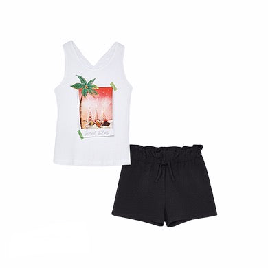 Mayoral - 2 piece shorts set, black shorts 6281