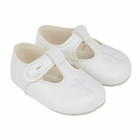 Early Days -  Baypods  B044 Christening shoes, white