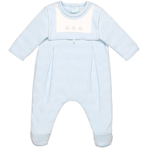 Emile et Rose - Baby boy romper with detachable bib, Palmer,1819pb/19s