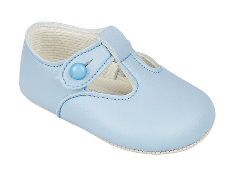 Early Days- Baby pram shoes blue B012