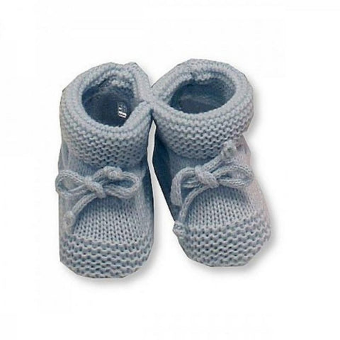 Nursery Time - Knitted booties blue