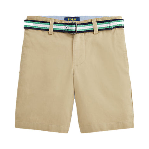 Ref: 328832061002  These wear-with-anything chino shorts are made with a hint of stretch and feature a striped belt for added polish.  Sand shorts with stripe belt  side pockets  Adjustable waist  98% cotton, 2% elastane  Machine washable 30*