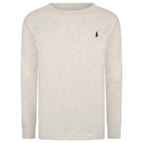 Ralph Lauren - long sleeved grey heather tee shirt