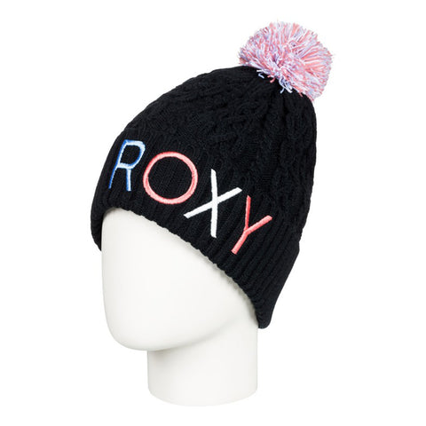 "Roxy - Black bobble hat ERGHA03107 <BR> <span style=""color:#FF0000"">SALE"