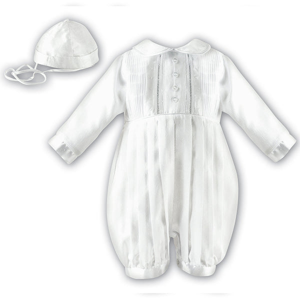 Sarah Louise - Boys Christening romper, ivory, 232LZ