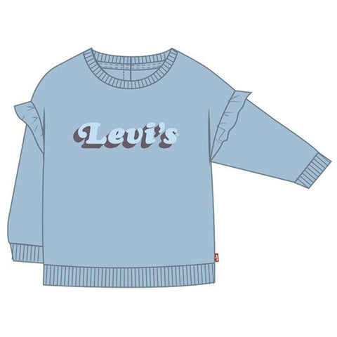 Levis - Blue sweat top with frill shoulder 1EB184