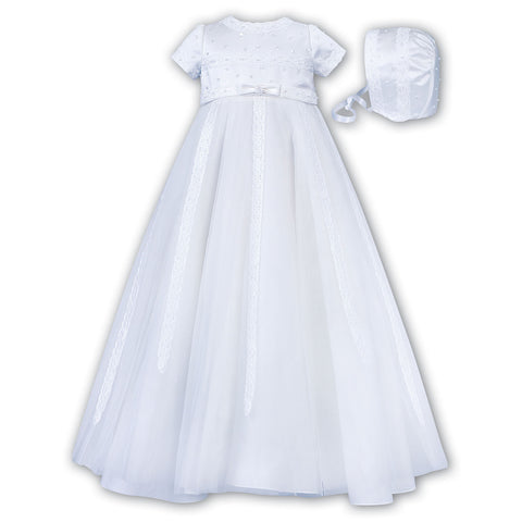 Sarah Louise - Christening dress, white, 001149S