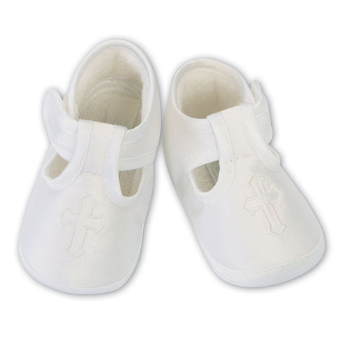 Sarah Louise - Ivory Christening shoes  004482