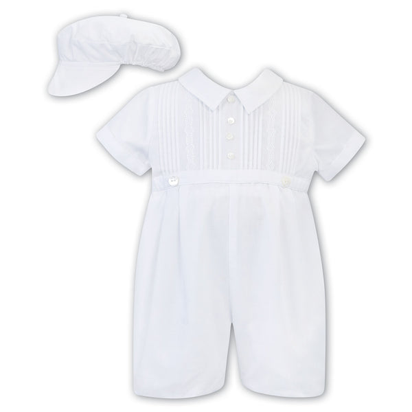 Sarah Louise - Boys romper with hat, 011790
