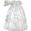 Sarah Louise - Silk Christening gown, ivory, 001144