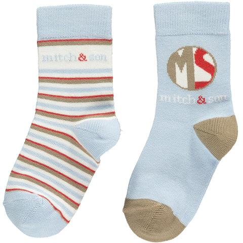 "Mitch & Son - pale blue socks, Albert<BR> <span style=""color:#FF0000"">SALE"