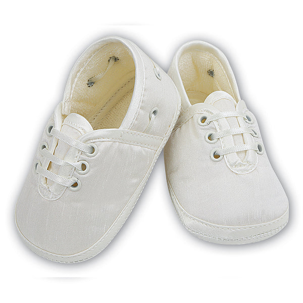 Sarah Louise Boys Christening Shoes - Ivory 004402