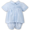 Sarah Louise  - Baby boy romper, 2 piece set, pale blue, 010695
