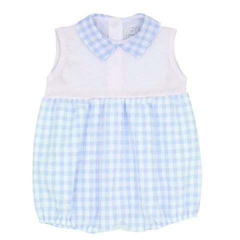 Rapife - Pale blue and white romper 4508S20