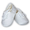 Sarah Louise Boys Christening Shoes - White 004402