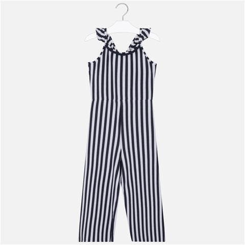 Mayoral - Navy and white stripe playsuit 6808
