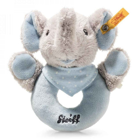 Steiff - Trample elephant rattle, pale blue