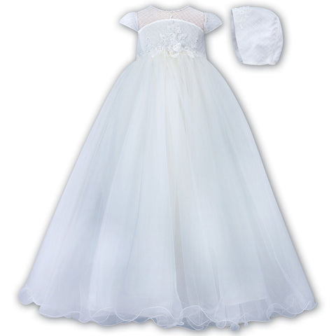 Sarah Louise - Christening robe, white 001171S