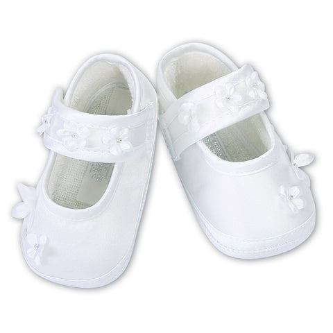 Sarah Louise - white pram shoes  004437