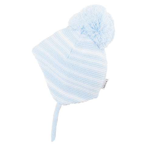 Satila - Brian Pompom hat, blue striped