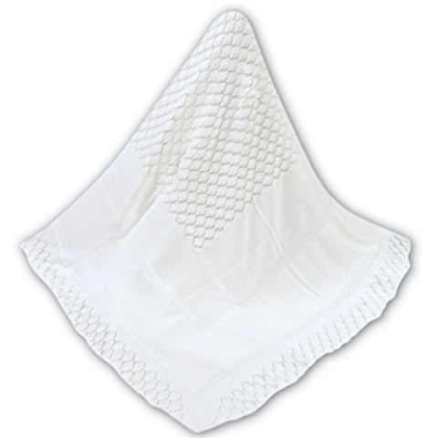 Sarah Louise  - baby shawl, white 000040