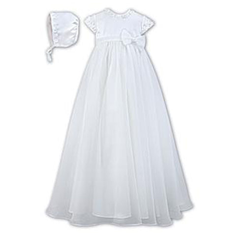 Sarah Louise - Christening gown, white, 001055KS
