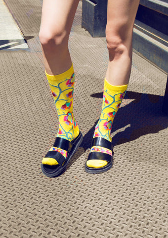 ozone design's african women's floral socks with sandals