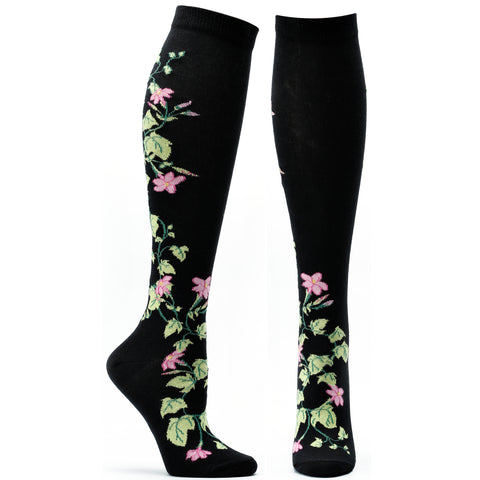 ozone design jasmine apothecary floral knee high socks