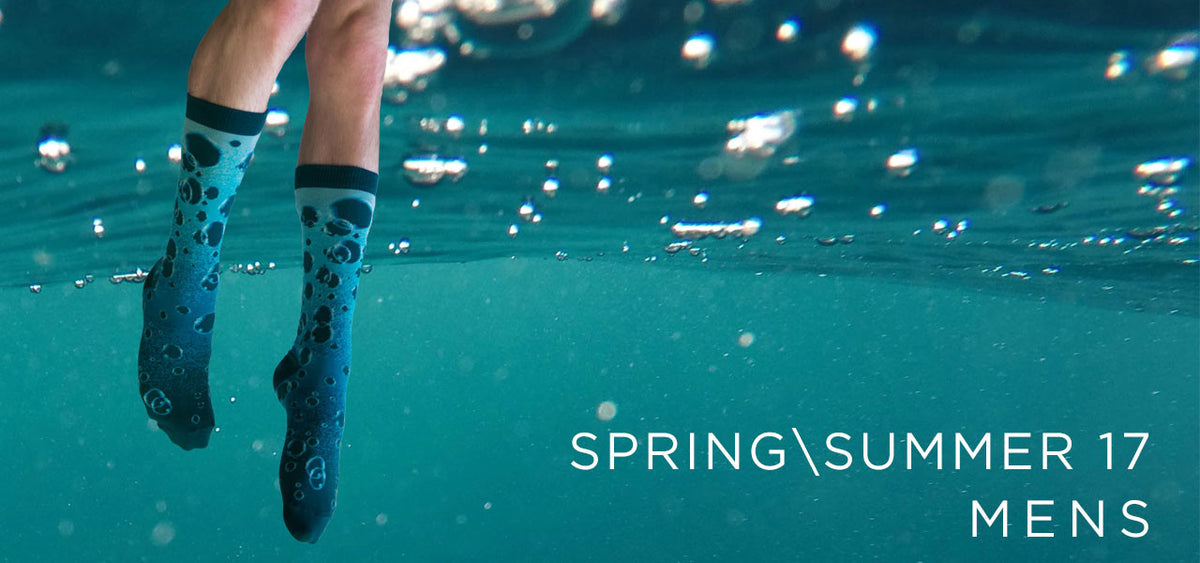 Mens designer socks Spring/Summer 2017 banner from Ozone Designs