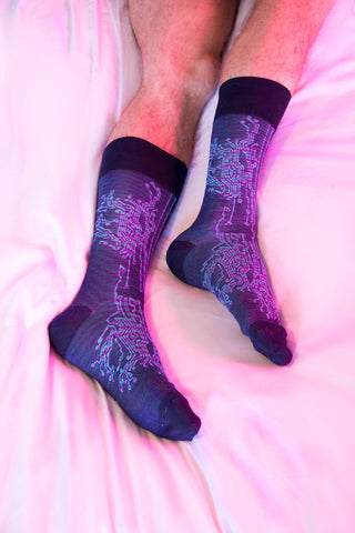 ozone design mens dress socks with unique pattern