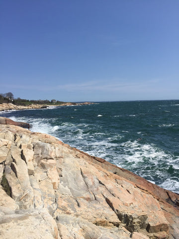 Rock Jetties Along The Ocean