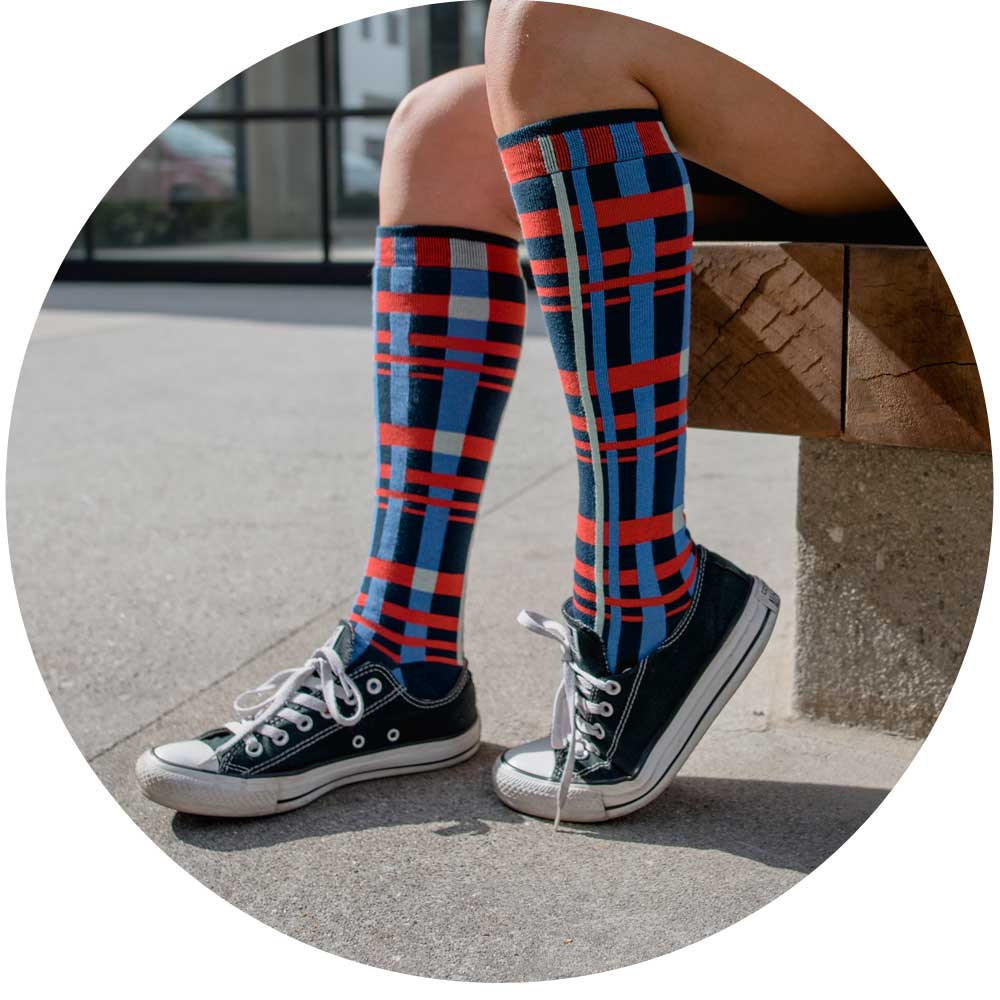 ozone design constructive womens novelty knee high socks with unique print