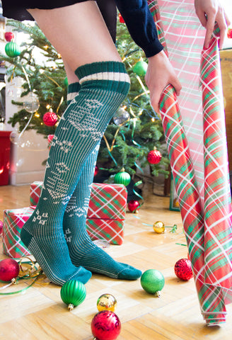ozone design's sweater over the knee socks