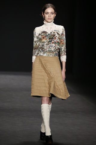 Floral damask knee high sock from ozone design for vivienne tam runway