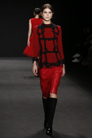 ozone design for vivienne tam runway with knee high boots