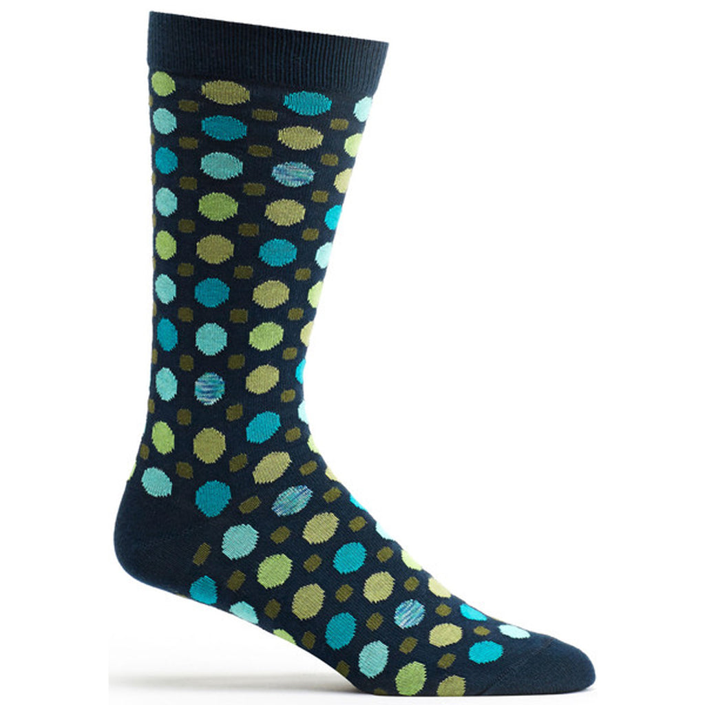 Multi Dot Sock Navy / 10-13 - - Ozone Socks - 3