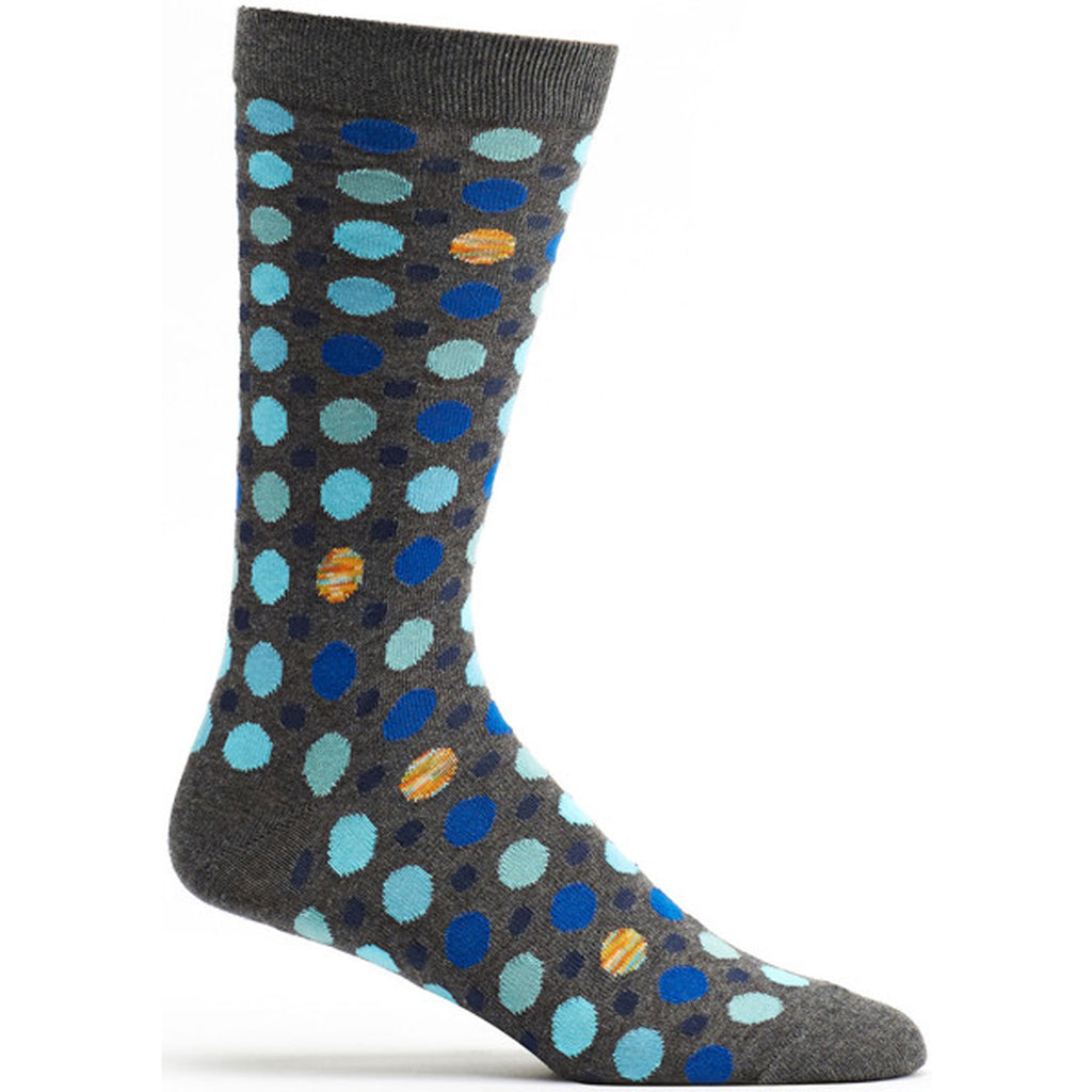 Multi Dot Sock Grey / 10-13 - - Ozone Socks - 4