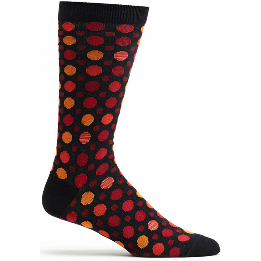 Multi Dot Sock Black / 10-13 - - Ozone Socks - 1