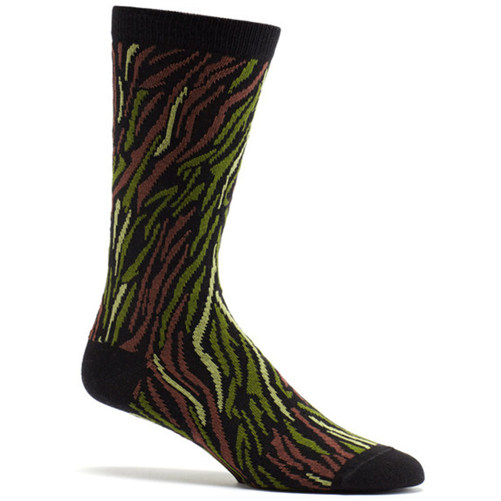 Mens Stripy Camo Sock in Black size 10-13 mens novelty from ozone socks