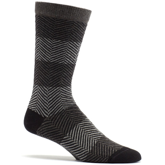 Herringbone Mirror Sock in Black size 10-13 mens novelty from ozone socks