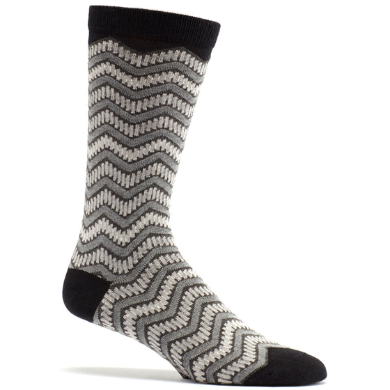 Train Tracks Sock in Black size 10-13 mens novelty from ozone socks