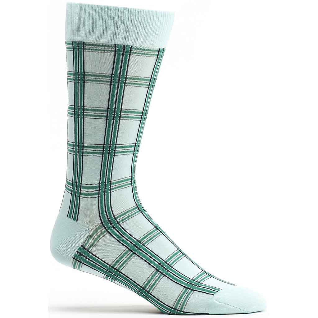 Masaii Plaid Sock in Blue size 10-13 mens from ozone socks