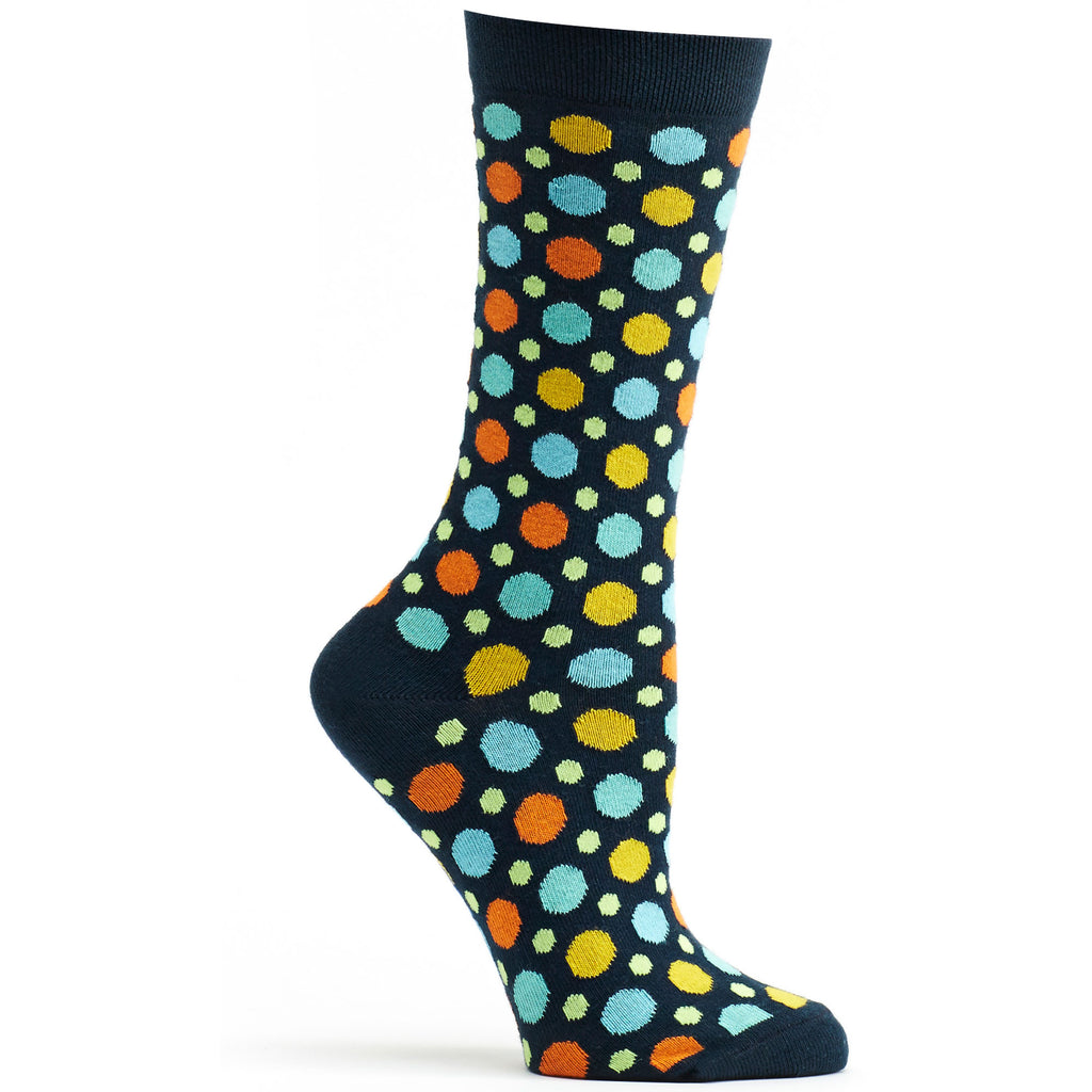 Multicolored Dots Sock Navy - Women - Archive - Ozone Socks - 1