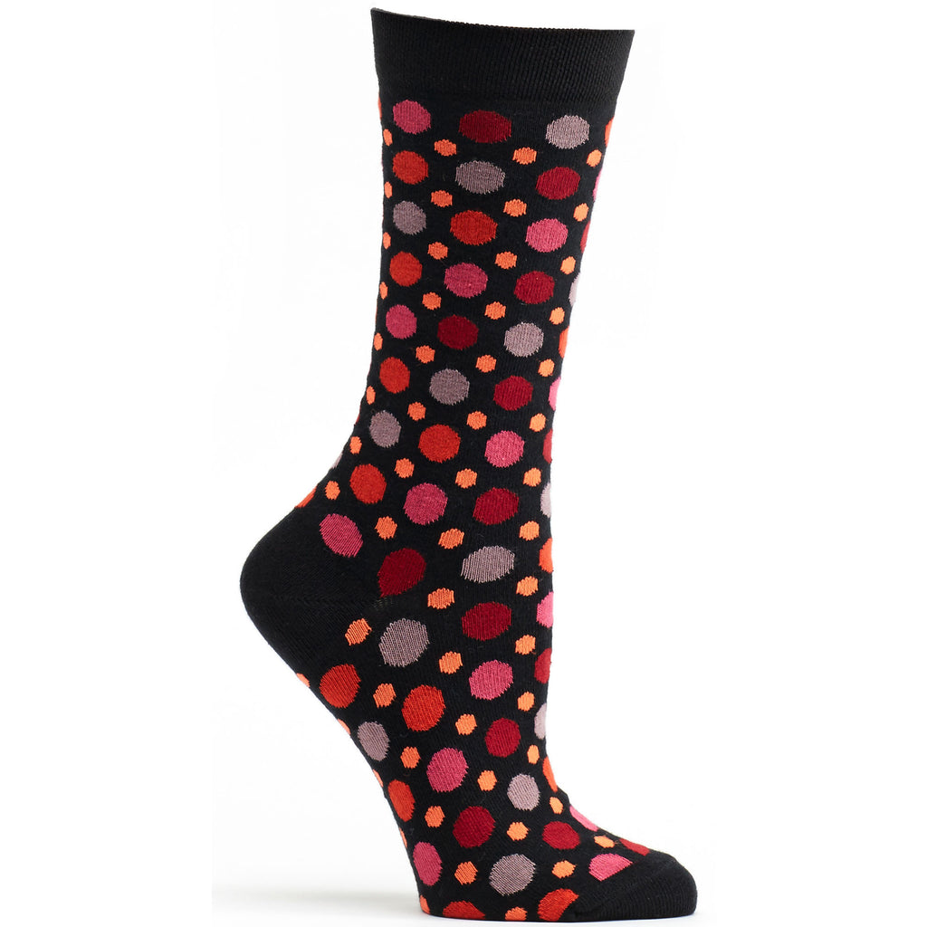 Multicolored Dots Sock Black - Women - Archive - Ozone Socks - 5