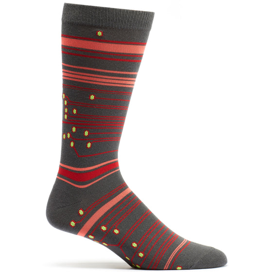 Ozone Design Circuit Mens Striped Sock in grey