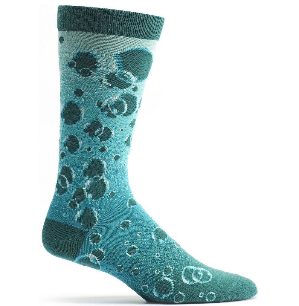 Floating Baubles Sock in Turquoise size 10-13 mens striped from ozone socks