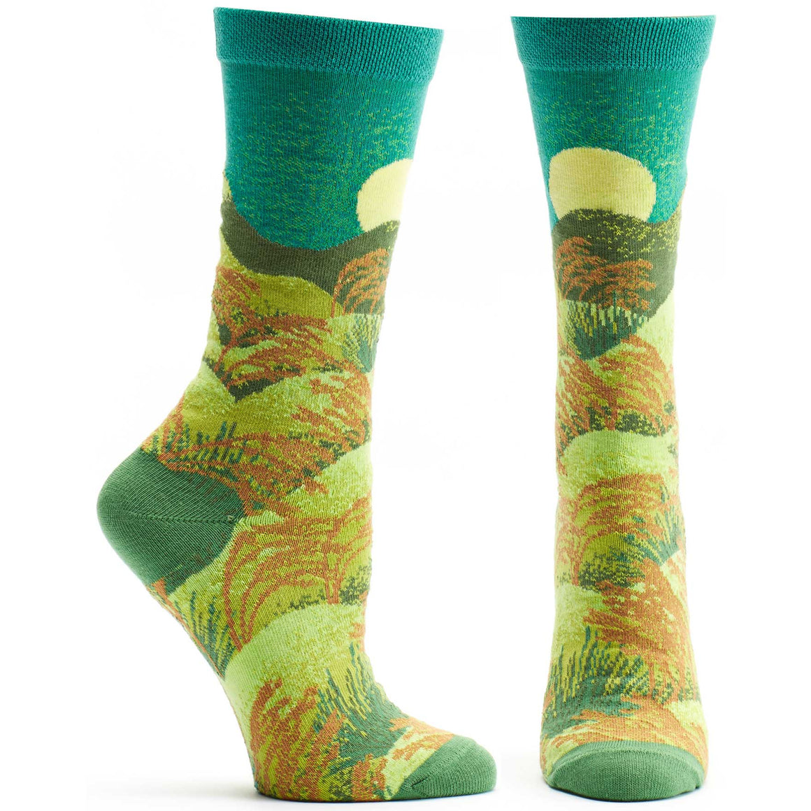 Ozone Design Womens 4 Seasons Summer Novelty Sock in Green