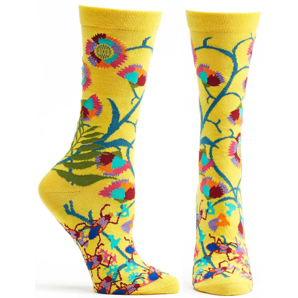Ozone Design African Womens Floral Sock in black