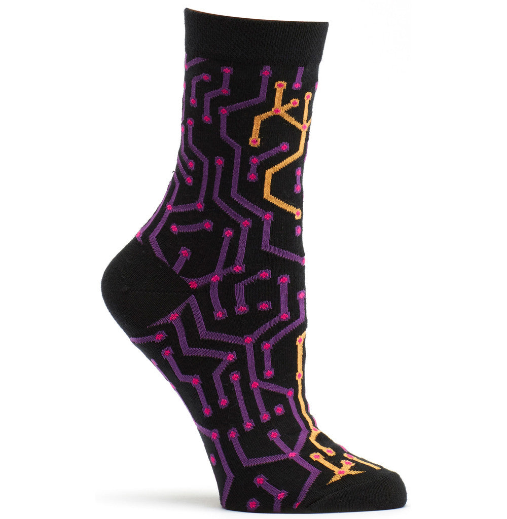 Rogue Wires Sock in Violet size 9-11 womens novelty from ozone socks